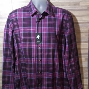 Boss Hugo Boss Regular Fit Purple Button Front